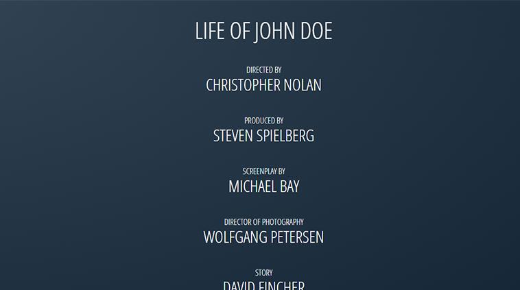 CSS3だけで映画のエンドロール風エフェクトを表現した「Movie Credits」 | co-jin
