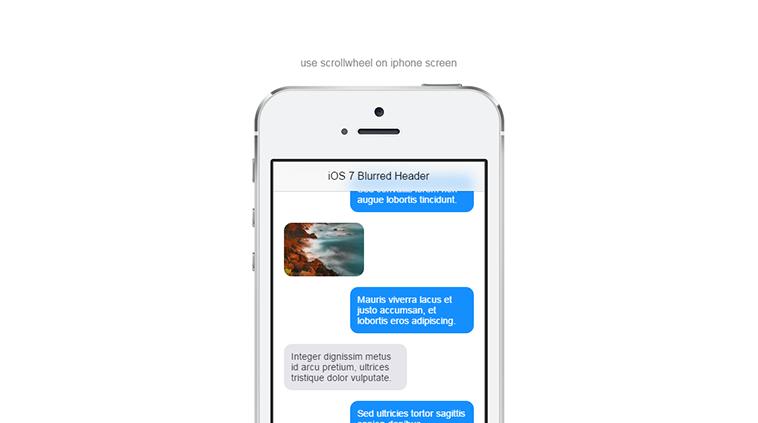 iOS 7 Blurred Header