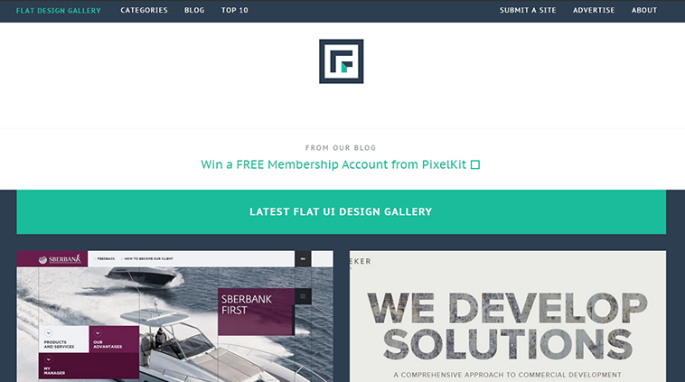 Flat design gallery