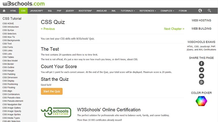 CSS Quiz