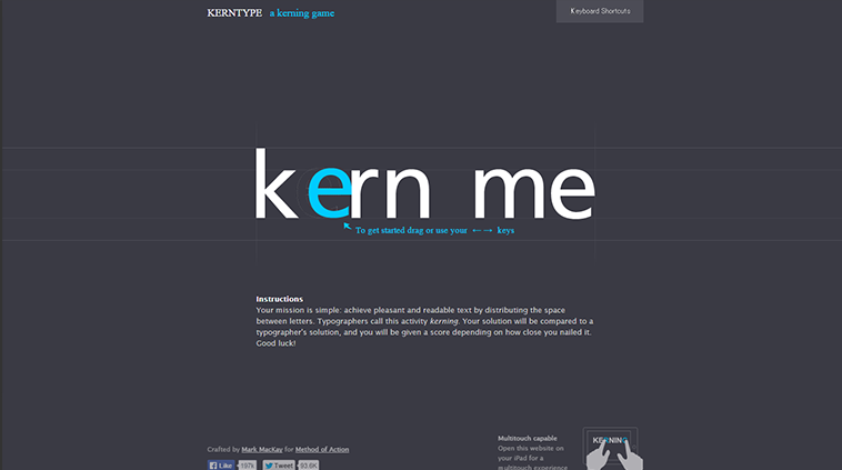 Kern Type, the kerning game